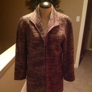 Chico's Shining Purple Persis 3/4 Jacket
